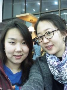 Uyanga and Eunjin