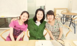 Eunjin, professor Lee, and jessica