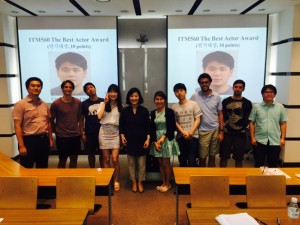 2015 Leadership for Innovative Organization classmates with professor