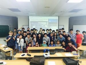 2015 OB classmates with professor